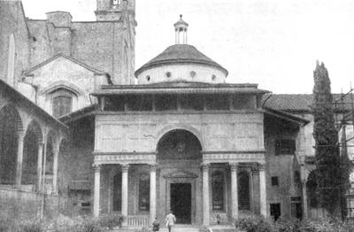 Архитектура эпохи Возрождения в Италии: Флоренция. Капелла Пацци. Общий вид