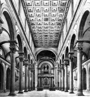 Архитектура эпохи Возрождения в Италии: Флоренция. Церковь Сан Лоренцо