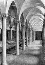 Архитектура эпохи Возрождения в Италии: Монастырь Сан Марко. Интерьер библиотеки (закончена в 1441 г.). Микелоццо