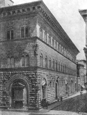 Архитектура эпохи Возрождения в Италии: Флоренция. Палаццо Медичи-Риккарди, 1444—1452 гг. Микелоццо. Внешний вид