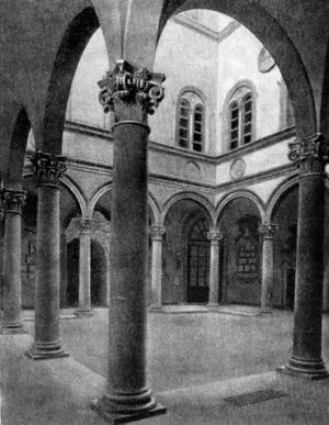 Архитектура эпохи Возрождения в Италии: Флоренция. Палаццо Медичи-Риккарди, 1444—1452 гг. Микелоццо. Двор