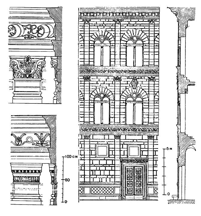 Архитектура эпохи Возрождения в Италии: Флоренция. Палаццо Ручеллаи, 1446—1451 гг. Альберти