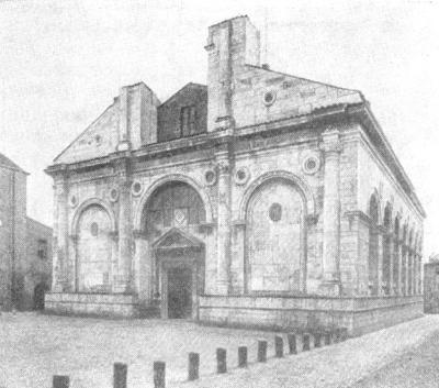 Архитектура эпохи Возрождения в Италии: Римини. Церковь Сан Франческо, 1450—1461 гг. Альберти