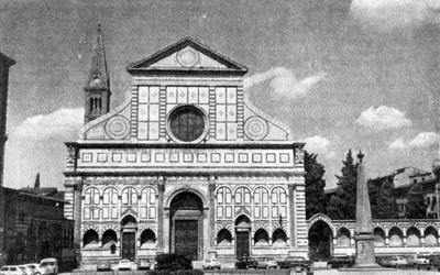 Архитектура эпохи Возрождения в Италии: Флоренция. Церковь Санта Мария Новелла, 1456-1470 гг. Альберти