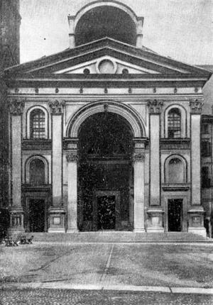Архитектура эпохи Возрождения в Италии: Мантуя. Церковь Сант Андреа, западный фасад