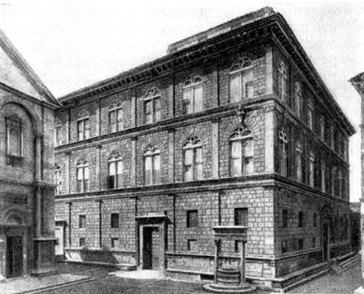 Архитектура эпохи Возрождения в Италии: Пиенца. Палаццо Пикколомини, 1459—1463 гг., Росселино