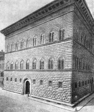 Архитектура эпохи Возрождения в Италии: Флоренция. Палаццо Строцци. Общий вид