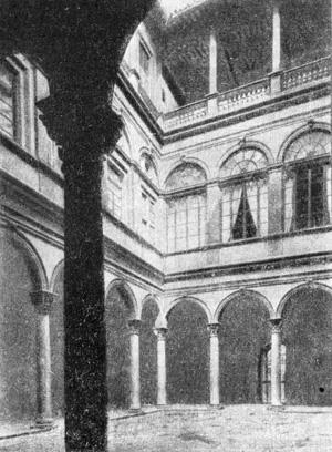 Архитектура эпохи Возрождения в Италии: Флоренция. Палаццо Строцци. Двор