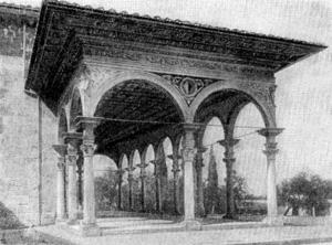 Архитектура эпохи Возрождения в Италии: Ареццо. Церковь Санта Мария делле Грацие. Портик