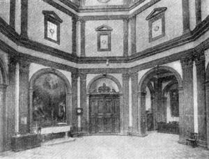 Архитектура эпохи Возрождения в Италии: Флоренция. Сакристия церкви Сан Спирито
