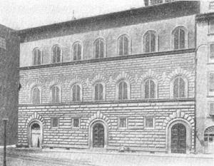 Архитектура эпохи Возрождения в Италии: Флоренция. Палаццо Гонди, 1490—1494 гг., Джулиано да Сангалло. Общий вид