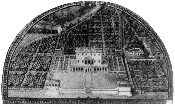 Архитектура эпохи Возрождения в Италии: Поджо а Кайяно. Вилла Медичи. Фреска XVII в.