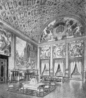 Архитектура эпохи Возрождения в Италии: Поджо а Кайяно. Вилла. Зал