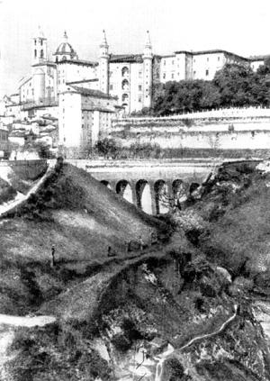 Архитектура эпохи Возрождения в Италии: Урбино. Палаццо Дукале, 1468-1483 гг. Лучано да Лаурана