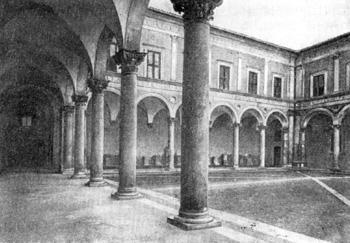 Архитектура эпохи Возрождения в Италии: Урбино. Палаццо Дукале, двор