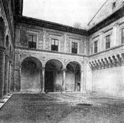 Архитектура эпохи Возрождения в Италии: Губбио — Палаццо Дукале, двор