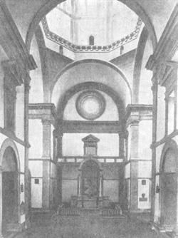 Архитектура эпохи Возрождения в Италии: Кортона (окрестности). Церковь Санта Мария дель Кальчинайо, 1485 г. Франческо ди Джорджо Мартини