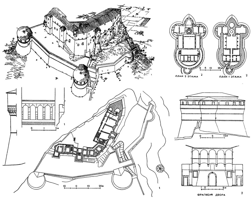 Архитектура эпохи Возрождения в Италии: Франческо ди Джорджо Мартини: 1 — крепость Сан Лео; 2 — крепость Сассокорваро