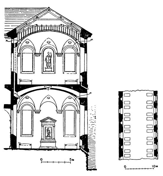 Архитектура эпохи Возрождения в Италии: Милан. Оспедале Маджоре. Схема санитарного благоустройства и план палаты