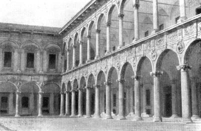 Архитектура эпохи Возрождения в Италии: Милан. Оспедале Маджоре. Двор(восстановлен после разрушений второй мировой войны)