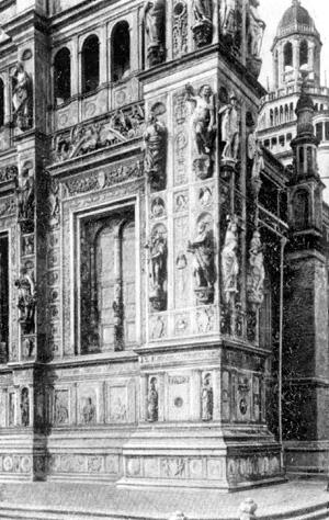 Архитектура эпохи Возрождения в Италии: Павия. Чертоза. Фрагмент фасада церкви