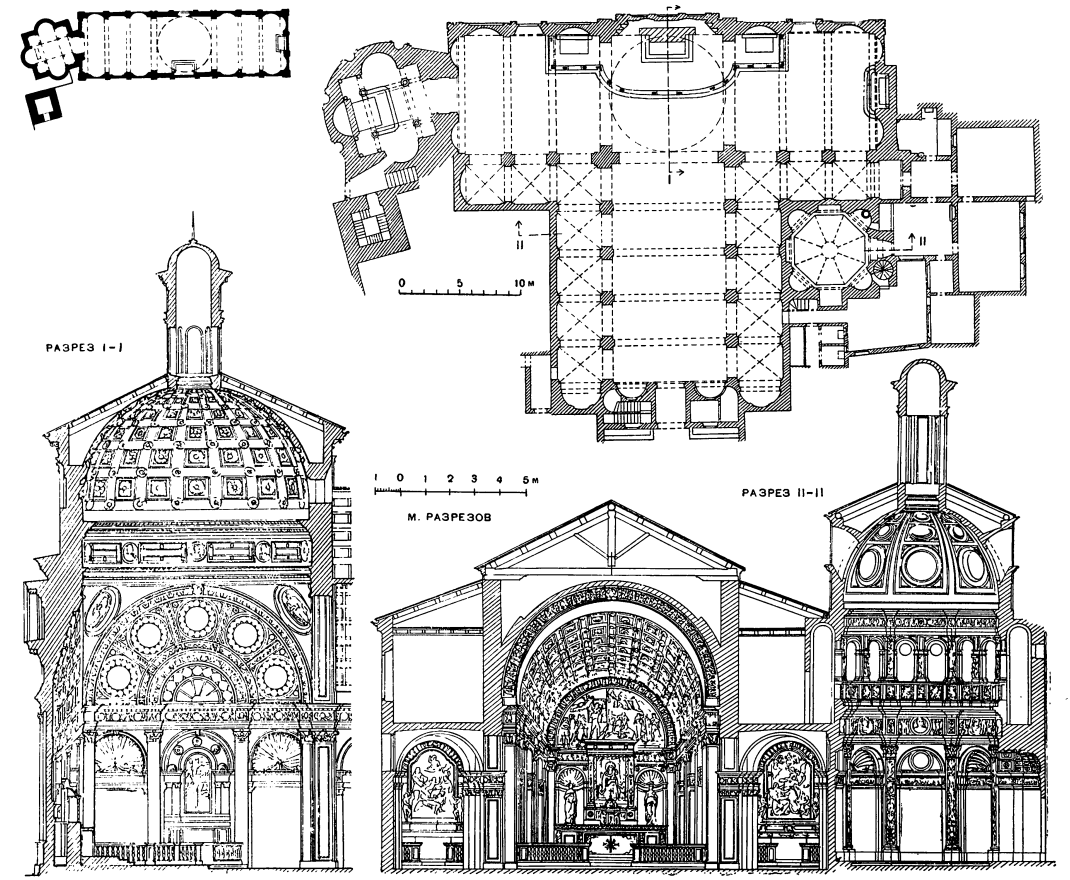 Схема постройки церкви
