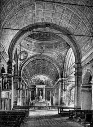 Архитектура эпохи Возрождения в Италии: Милан. Церковь Санта Мария прессо Сан Сатиро. Вид хора из продольного нефа