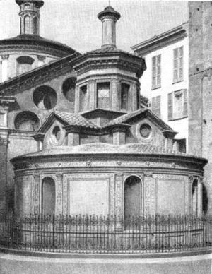 Архитектура эпохи Возрождения в Италии: Милан. Церковь Санта Мария прессо Сан Сатиро. Капелла