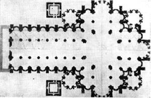 Архитектура эпохи Возрождения в Италии: Павия. Собор, с 1487 г. Браманте, Амадео и др. План