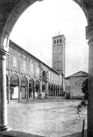 Архитектура эпохи Возрождения в Италии: Милан. Монастырь Сант Амброджо, с 1492 г. Браманте. Аркада двора