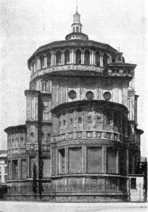 Архитектура эпохи Возрождения в Италии: Милан. Церковь Санта Мария делле Грацие.Средокрестие. с 1492 г. Браманте
