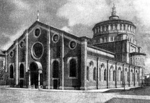Архитектура эпохи Возрождения в Италии: Милан. Церковь Санта Мария делле Грацие.Общий вид (базиликальная часть церкви — Амадео)