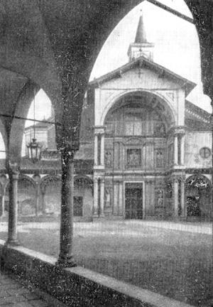 Архитектура эпохи Возрождения в Италии: Аббьятеграссо. Монастырская церковь. Входной портал, 1497 г., Браманте