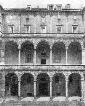 Архитектура эпохи Возрождения в Италии: Рим. Палаццо Канчеллерия. Двор