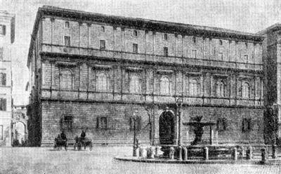 Архитектура эпохи Возрождения в Италии: Рим. Палаццо Джиро, или Торлония (окончено в 1504 г.)