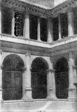 Архитектура эпохи Возрождения в Италии: Рим. Монастырь Санта Мария делла Паче. Двор