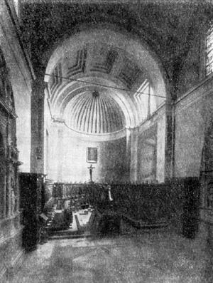 Архитектура эпохи Возрождения в Италии: Рим. Церковь Санта Мария дель Пополо. Хор, 1509 г., Браманте