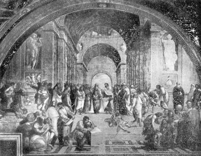 Рафаэль. «Афинская школа», фреска в Ватикане
