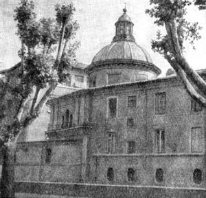 Архитектура эпохи Возрождения в Италии: Рим. Церковь Сант Элиджо дельи Орефичи, начата в 1509 г. Рафаэль