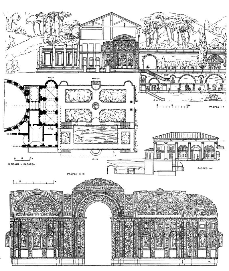 Архитектура эпохи Возрождения в Италии: Рим. Вилла Мадама. Осуществленная часть виллы