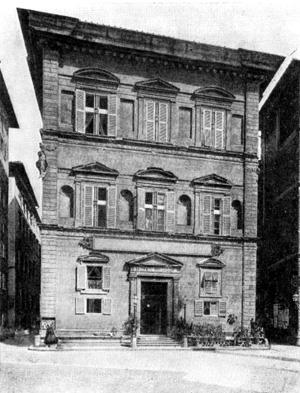 Архитектура эпохи Возрождения в Италии: Флоренция. Палаццо Бартолини, 1520 г. Баччо д'Аньоло