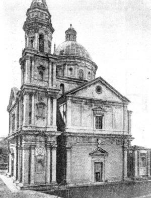 Архитектура эпохи Возрождения в Италии: Монтепульчано. Церковь Мадонна ди Сан Бьяджо, 1518—1529 гг.Антонио да Сангалло Старший