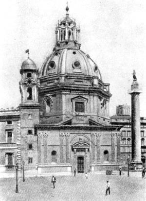 Архитектура эпохи Возрождения в Италии: Рим. Церковь Санта Мария ди Лорето, 1507 г. Антонио да Сангалло Младший