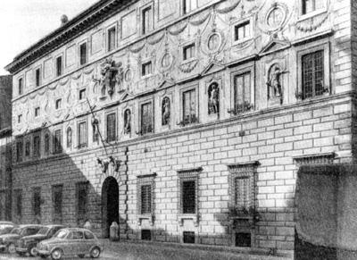 Архитектура эпохи Возрождения в Италии: Рим. Палаццо Спада, 1540 г.