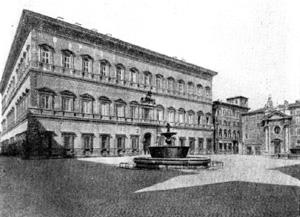 Архитектура эпохи Возрождения в Италии: Рим. Палаццо Фарнезе. Общий вид