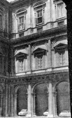 Архитектура эпохи Возрождения в Италии: Рим. Палаццо Фарнезе. Двор