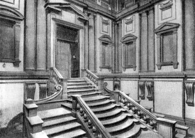 Архитектура эпохи Возрождения в Италии: Флоренция. Библиотека Лауренциана, 1559 г. Микеланджело.Вид вестибюля