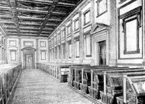 Архитектура эпохи Возрождения в Италии: Флоренция. Библиотека Лауренциана. Зал