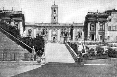 Архитектура эпохи Возрождения в Италии: Рим. Капитолий, с 1538 г. Микеланджело