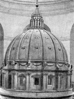 Архитектура эпохи Возрождения в Италии: Модель купола собора св. Петра в Риме. Микеланджело